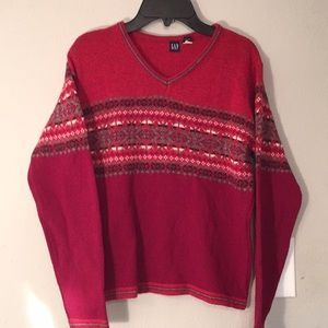 Gap Boys Red Embroidry Sweater- 4 Valentines Day-S